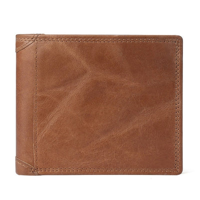 Men Vintage Leather Wallet with Coin Pocket BrownPatchworkPurse - Men Wallets | MegaMallExpress.com