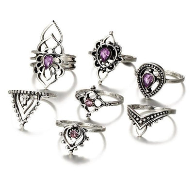 Retro Flower Knuckle Rings  - Casual Rings | MegaMallExpress.com