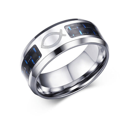 Alliance Ring 12 / Jesus Fish / Silver - Formal Rings | MegaMallExpress.com