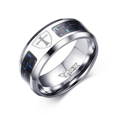 Alliance Ring 12 / Cross Shield / Silver - Formal Rings | MegaMallExpress.com