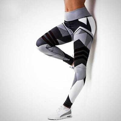 Snow Print Legging Black/White / XXXL - Women Bottoms | MegaMallExpress.com