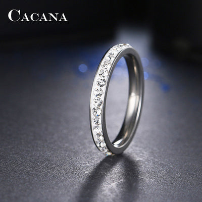 Small CZ Ring 8 / Silver - Formal Rings | MegaMallExpress.com