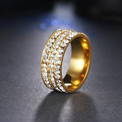 Trendy Fashion Ring 11 / Gold - Formal Rings | MegaMallExpress.com