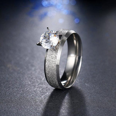 Trendy CZ Ring 11 / Silver - Wedding & Engagement | MegaMallExpress.com