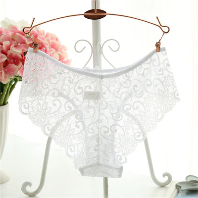 Women Transparent Lace Panties White / XL - Women Intimates | MegaMallExpress.com