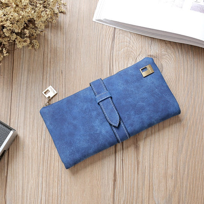 Women Long Card Holder Clutch Blue - Women Wallets | MegaMallExpress.com