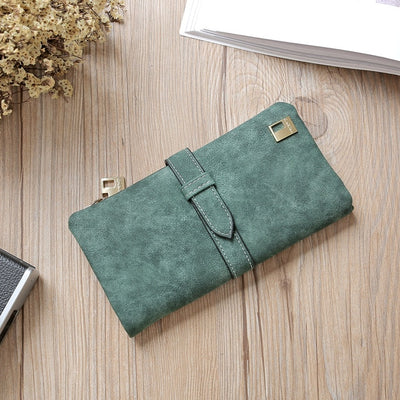 Women Long Card Holder Clutch Green - Women Wallets | MegaMallExpress.com