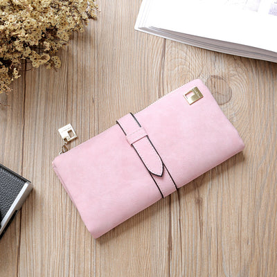 Women Long Card Holder Clutch Pink - Women Wallets | MegaMallExpress.com