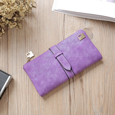 Women Long Card Holder Clutch Purple - Women Wallets | MegaMallExpress.com