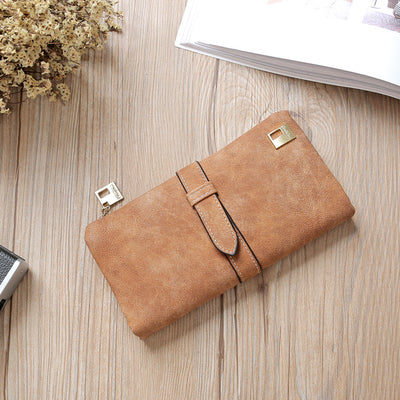 Women Long Card Holder Clutch Brown - Women Wallets | MegaMallExpress.com