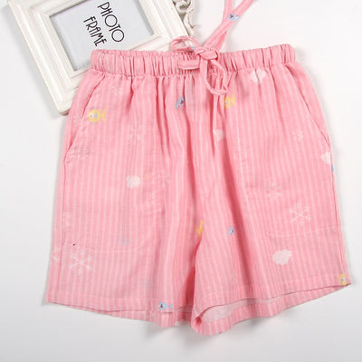 Women Cotton Shorts Pajama Pink fish / M - Women Intimates | MegaMallExpress.com