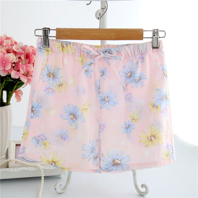 Women Cotton Shorts Pajama marguerite pink / M - Women Intimates | MegaMallExpress.com