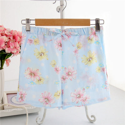 Women Cotton Shorts Pajama marguerite blue / M - Women Intimates | MegaMallExpress.com