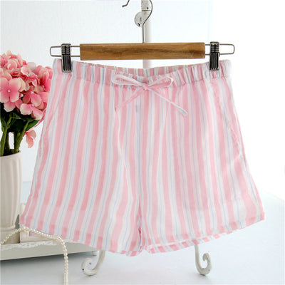 Women Cotton Shorts Pajama pink S stripe / XL - Women Intimates | MegaMallExpress.com