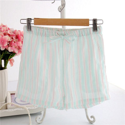 Women Cotton Shorts Pajama Green S stripe / XL - Women Intimates | MegaMallExpress.com