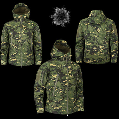 Men's Military Camouflage Jacket of Durable Polyester  - Men Jackets & Coats | MegaMallExpress.com