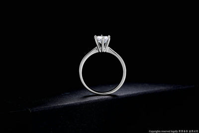 6 Prong Solitaire Ring  - Wedding & Engagement | MegaMallExpress.com