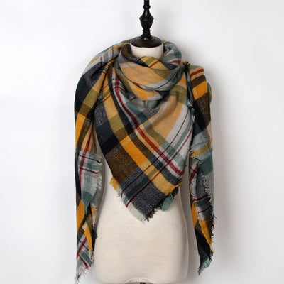 Women Plaid Scarf Multi 3 - Women Socks & More | MegaMallExpress.com