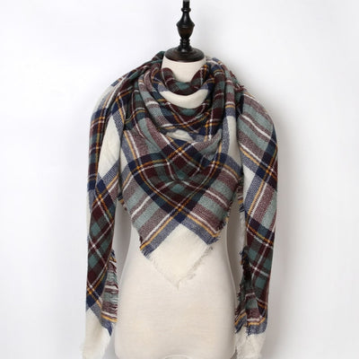 Women Plaid Scarf Gray 12 - Women Socks & More | MegaMallExpress.com