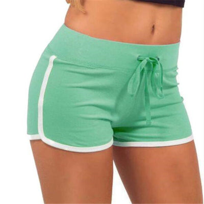 Women's Classic Drawstring Shorts green / XL - Women Bottoms | MegaMallExpress.com