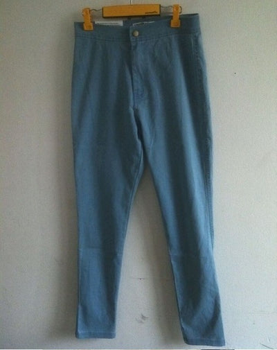 Women High Waist Jeans Light blue / XS - Women Bottoms | MegaMallExpress.com