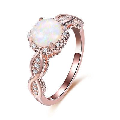 Rainbow Opal Ring 6 / Rose - Formal Rings | MegaMallExpress.com