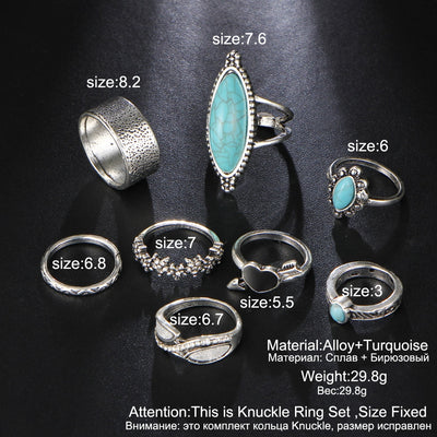 Vintage Stone Ring Set  - Casual Rings | MegaMallExpress.com