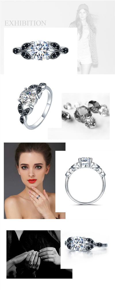 Sterling Silver Jewelry Engagement Ring  - Fine Jewelry | MegaMallExpress.com