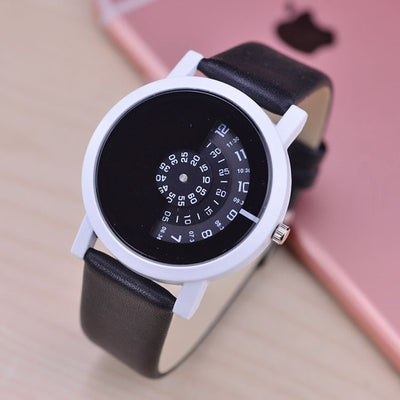 Unisex Novelty Dial Watch Black white - Women Watches | MegaMallExpress.com