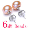 Women Natural Pearl Earrings Yellow 6mm - Fine Jewelry | MegaMallExpress.com