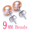 Women Natural Pearl Earrings Yellow 9mm - Fine Jewelry | MegaMallExpress.com