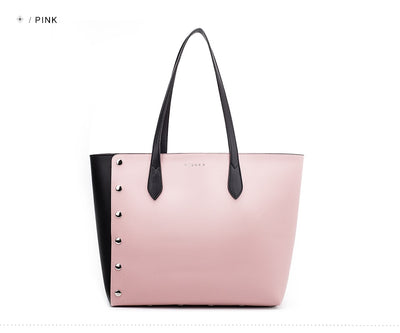 Leather Shopping Tote Bag and Purse Set  - Women Handbags & Purses | MegaMallExpress.com