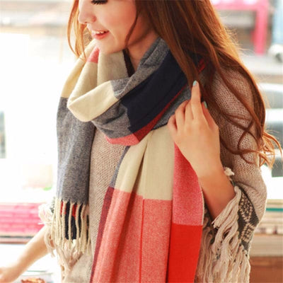 Plaid Cashmere Scarves  - Women Socks & More | MegaMallExpress.com