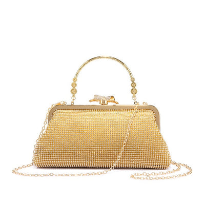 Women Old Fashion Evening Clutch Gold / 15 x 3 x 11 cm - Women Handbags & Purses | MegaMallExpress.com