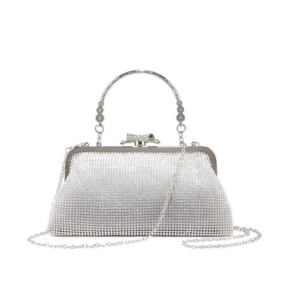Women Old Fashion Evening Clutch Silver / 15 x 3 x 11 cm - Women Handbags & Purses | MegaMallExpress.com