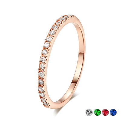 Mini CZ Wedding Ring  - Wedding & Engagement | MegaMallExpress.com