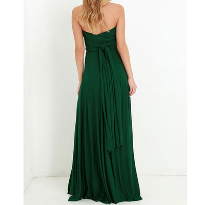 Women Halter Top Bridesmaid Long Dress long dress / XL - Women Dresses | MegaMallExpress.com