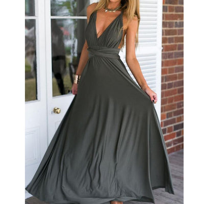 Women Halter Top Bridesmaid Long Dress vintage dress / XL - Women Dresses | MegaMallExpress.com