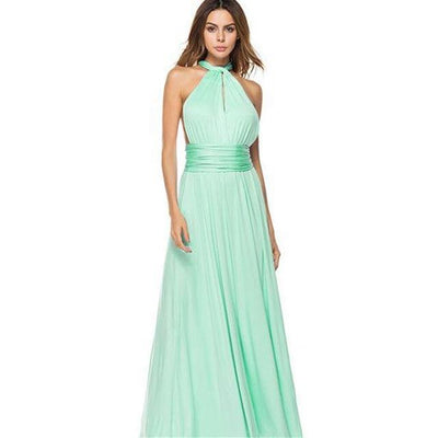 Women Halter Top Bridesmaid Long Dress DN06067 / M - Women Dresses | MegaMallExpress.com