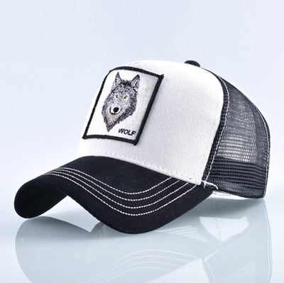 Animal Embroidered Baseball Caps White Wolf / 56-60cm - Men Hats & Caps | MegaMallExpress.com