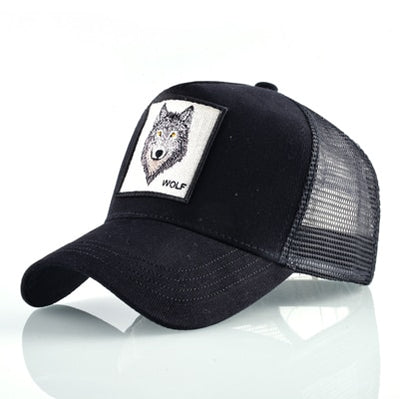 Animal Embroidered Baseball Caps Black Wolf / 56-60cm - Men Hats & Caps | MegaMallExpress.com