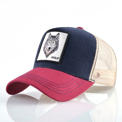Animal Embroidered Baseball Caps Red1 Wolf / 56-60cm - Men Hats & Caps | MegaMallExpress.com