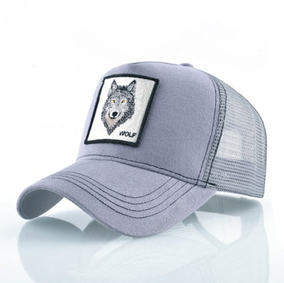 Animal Embroidered Baseball Caps Gray Wolf / 56-60cm - Men Hats & Caps | MegaMallExpress.com