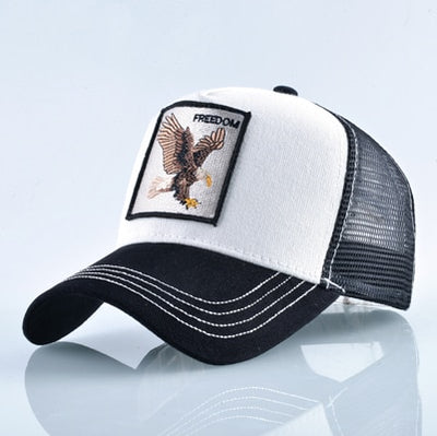 Animal Embroidered Baseball Caps White Eagle / 56-60cm - Men Hats & Caps | MegaMallExpress.com