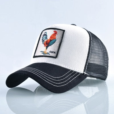 Animal Embroidered Baseball Caps White Cock / 56-60cm - Men Hats & Caps | MegaMallExpress.com