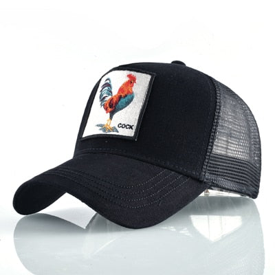 Animal Embroidered Baseball Caps Black Cock / 56-60cm - Men Hats & Caps | MegaMallExpress.com