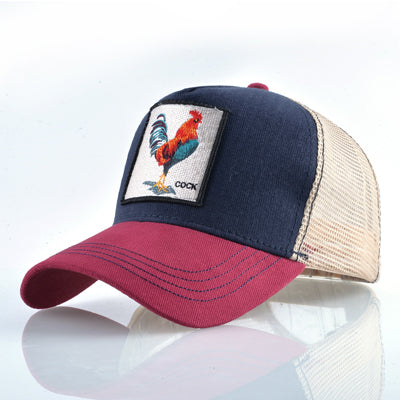 Animal Embroidered Baseball Caps Red1 Cock / 56-60cm - Men Hats & Caps | MegaMallExpress.com