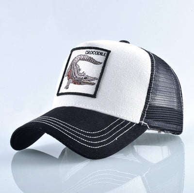 Animal Embroidered Baseball Caps White crocodile / 56-60cm - Men Hats & Caps | MegaMallExpress.com