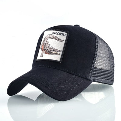Animal Embroidered Baseball Caps Black crocodile / 56-60cm - Men Hats & Caps | MegaMallExpress.com