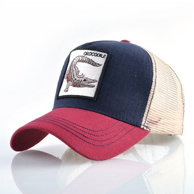 Animal Embroidered Baseball Caps Red1 crocodile / 56-60cm - Men Hats & Caps | MegaMallExpress.com